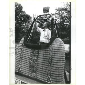 1985 Press Photo International Hot Air Balloon Championship Comp. Alan Blount