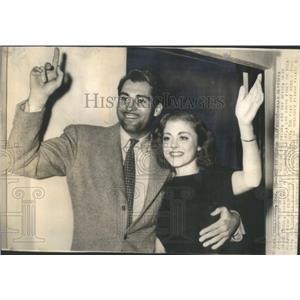 1938 Press Photo Actor Alan Marshal weds socialite Mary Grace Borel - RSC08851