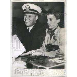 1942 Press Photo ENSIGN WAYNE MORRIS ACTOR NAVAL RESERVE AIR BASE PATRICIA
