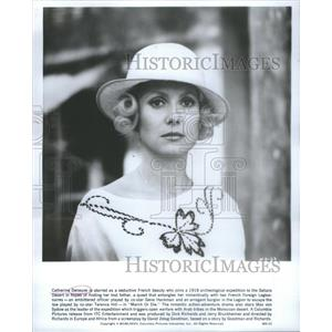1977 Press Photo March Or Die Film Actress Deneuve Wearing Hat Movie Scene