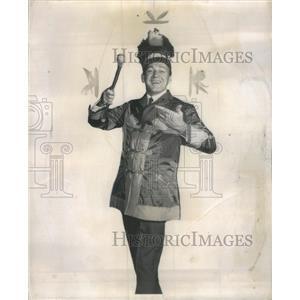 1959 Press Photo Forrest Tucker Harold Hill Music Man Meredith Willson