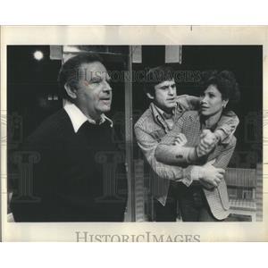 1977 Press Photo The Big Knife Film Actors Farentino Lee Persoff Fight Scene