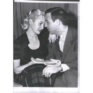 1954 Press Photo Marilyn Maxwell Actress Jerry Davis Screen Writer Fiancee