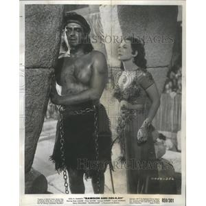 1979 Press Photo Actor Victor Mature and actress Hedy Lamarrr. - RSC78083