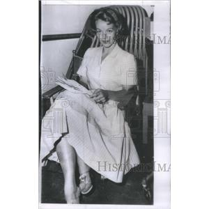 1955 Press Photo Maria Riva daughter Mariene Dietrich movie business New York