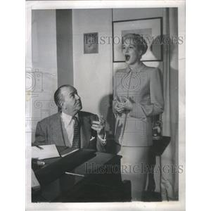 1949 Press Photo Marilyn Maxwell Actress John Quinlan Vocal Teacher - RSC78743
