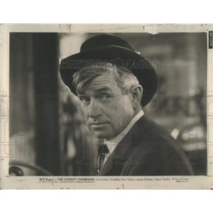 1943 Press Photo Will Rogers In The County Chairman John G. Blystone Director