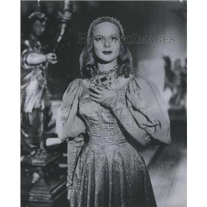 """1953 Press Photo Faye Marlowe is a Venetian Lady in """"The Thief of Venice"""""""