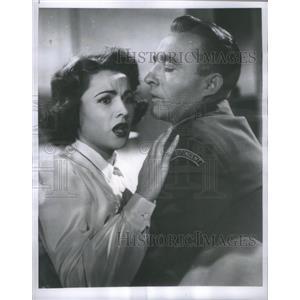 1954 Press Photo Bing Crosby and Nicole Maurey Star In Little Boy Lost