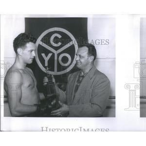 1959 Press Photo Max Marek American Heavy Weight Wrestling Champion Illinois