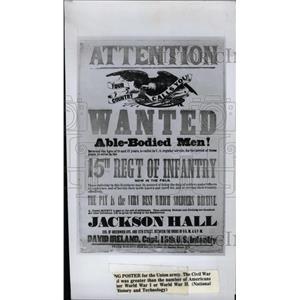 1976 Press Photo Union Army Recruiting Advertisement - RRW75743