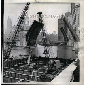 1960 Press Photo Bascule Bridge Project