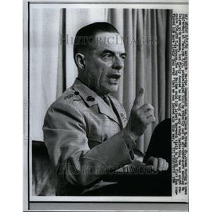 1966 Press Photo Marine Pentagon General Greene news - RRU40479