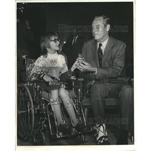 1973 Press Photo GOV. JOHN LOVE NANCY GROTH - RRV09783