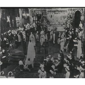1947 Press Photo Wedding of Princess Elizabeth & Philip - RRV04809