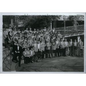 1997 Press Photo 60 Member Bayer Wind Orchestra - RRU30313