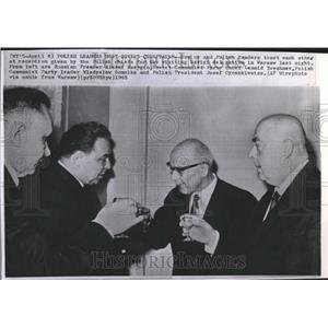1965 Press Photo Polish Leaders Host Soviet Chieftains - RRV23905