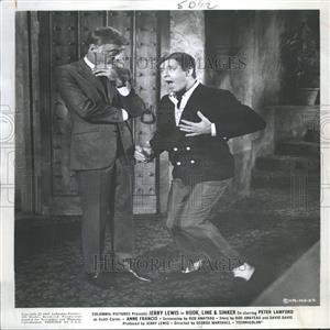 1969 Press Photo Jerry Lewis Hook, Line, & Sinker