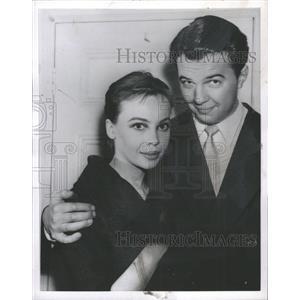 1956 Press Photo Leslie Claire Margaret Caron
