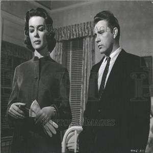 1960 Press Photo Actors Barbara Rush And Richard Burton