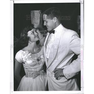 1959 Press Photo Miss Leslie Writer & Fiance M. Foster - RRV20619