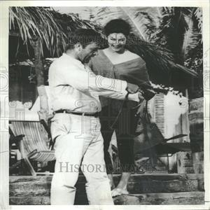 1964 Press Photo Burton and Gardner Night of the Iguana