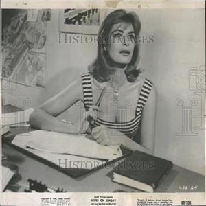 1960 Press Photo Melina Mercouri Greek Movie Actress