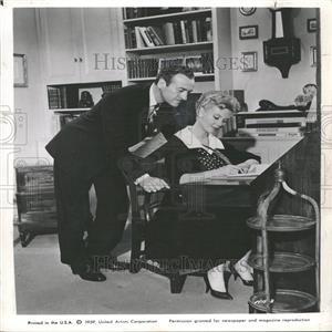 1960 Press Photo David Niven and Mitzi Gaynor Co-Star