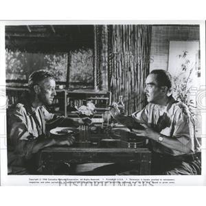1958 Press Photo William Holden Sessue Hayakawa Actors - RRY45273