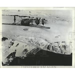 "1970 Press Photo ""Flightseeing"" New Zealand Alps"