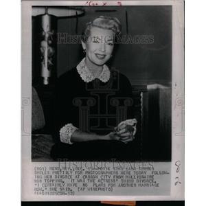 1952 Press Photo Actress Lana Turner Divorce Court