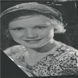 "1935 Press Photo Actress Julie Haydon ""The Scoundrel"""
