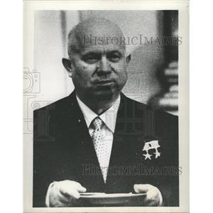 1958 Press Photo Nikita Khrushchev Soviet Union leader