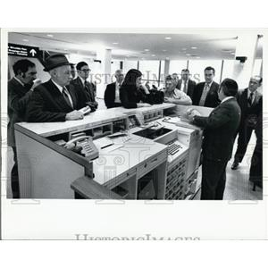1971 Press Photo Passengers at Tampa International Airport - XXB08999