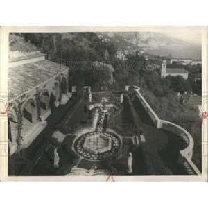 1931 Press Photo Italian Garden At Villa L' Acrotere