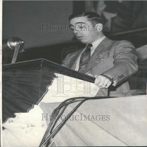 1934 Press Photo Francis J.Gorman Textiles Union Leader