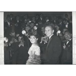 1958 Press Photo Rossana Rodesta & Marco Vicario Attend Cannes Film Festival