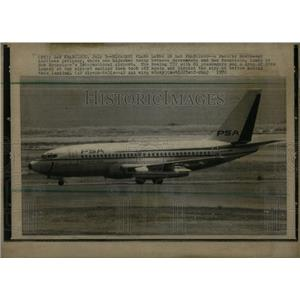 1972 Press Photo Sacramento San Francisco Hijack plane - RRX06485