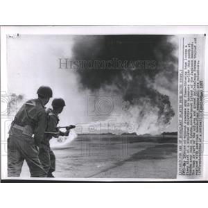 1957 Press Photo Japanese Army Flame at Kokubu
