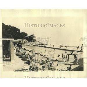 1931 Press Photo Pool at The Monte Carlo Casino