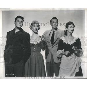 1949 Press Photo Hayes Gordon, Susan Johnson, Peter Turgeon, & Virginia Oswald