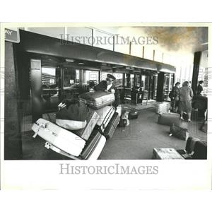 1984 Press Photo Williams Porter O'Hare United Baggage - RRV44739