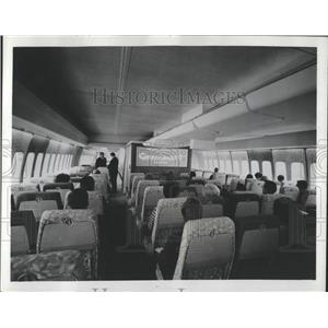1959 Press Photo Airplane Pan American Movies Length - RRW51957