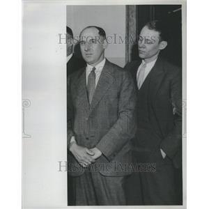1932 Press Photo Steve Johnson Detective Wilson Police