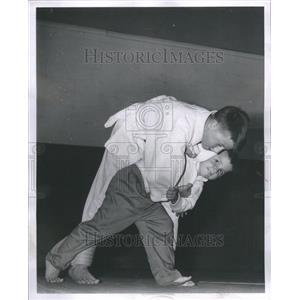 1962 Press Photo Randy Cooper Jimming Cooper Judo Fight