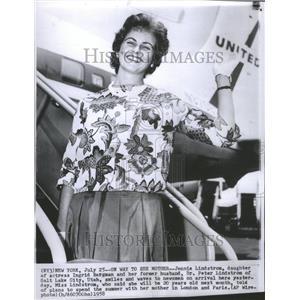 1958 Press Photo Jennie Lindstrom Ingrid Bergman Actor - RRU05597