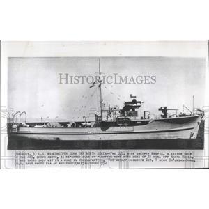 1950 Press Photo Mine Sweeper Magpie United States - RRX99389