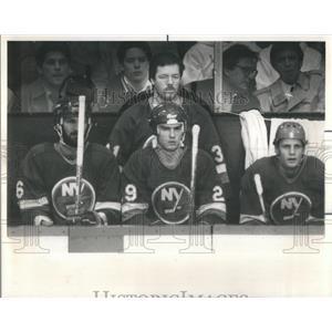 1985 Press Photo GOALIE BILLY SMITH ICE HOCKEY ISLANDER - RSC54107