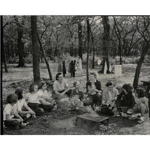 1956 Press Photo Troop 598 Intermediate Girl Scouts - RRW63163