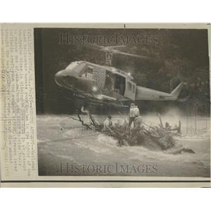 1975 Press Photo Helicopter Logjam Middle River Guard - RRV97117